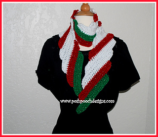 Christmas Scarf.Candy Cane Christmas Scarf Pattern By Sara Sach