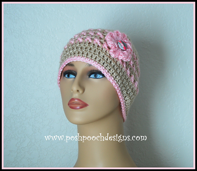 Ravelry Anns Pink Ribbon Chemo Beanie Breast Cancer Pattern By