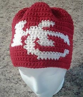 Crochet Pattern Kansas City Chiefs Afghan : Ravelry: Kansas City Chiefs Beanie pattern by Price ...