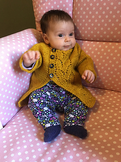 a847769c9aa Ravelry  Leaf Love Baby Sweater pattern by Taiga Hilliard Designs