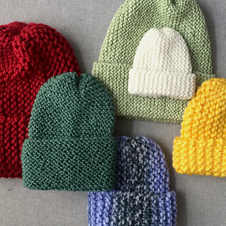 e32ef8f90c1 Ravelry  Super Simple Garter Stitch Hat pattern by Project Knitwell