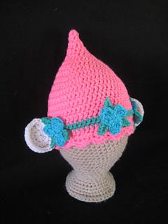 ravelry pink poppy troll hat pattern by daccrochet