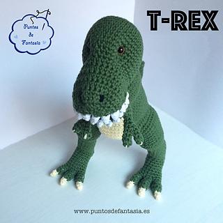 Amigurumi Dinosaurio Patron : Ravelry: Dinosaurio T-Rex pattern by Puntos de Fantas?a