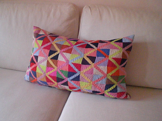 Jumping Jack Cushion pattern by Kaffe Fassett
