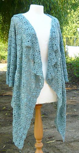 Ravelry: Elsa - Crochet Waterfall Cardi pattern by Amanda Perkins