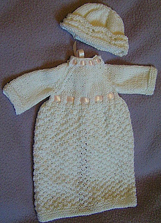 Ravelry Gown For Baby Born Asleep Pattern By Doris Lord