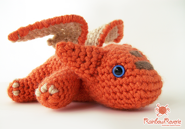 Amigurumi Dragon Wings : Ravelry: baby dragon amigurumi plush toy pattern by lily coulombe