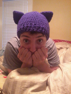 Ravelry  Simple Cat Ear hat pattern by Kelley Freeman d45e1289b97