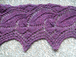 Acorn Leaf Knitting Pattern : Ravelry: Leaf and Acorn Lace pattern by A.M.