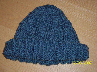 e6193255dcc Ravelry  3AM Cable Hat pattern by SmarieK