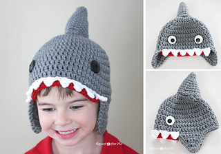 Ravelry  Shark Hat pattern by Sarah Zimmerman 7e6370662da0