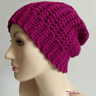 877c0cfcab9 Ravelry  Pretty Simple Slouch Hat pattern by Rhelena s Crochet Patterns