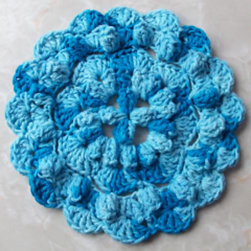 Ravelry Popcorn Stitch Round Hot Pad Pattern By Rhelenas Crochet