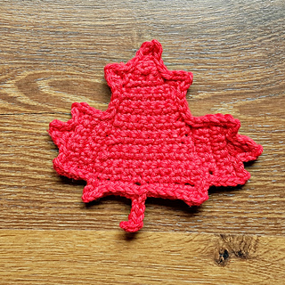 Knitting Patterns Maple Leaf Hat : Ravelry: Canadian Maple Leaf Embellishment pattern by Oombawka Design