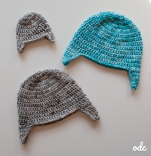 Easy Double Crochet Ear Flap Hat - Free Pattern from Oombawka Design.  Available in sizes preemie to adult large. © Oombawka Design 44ba2031850