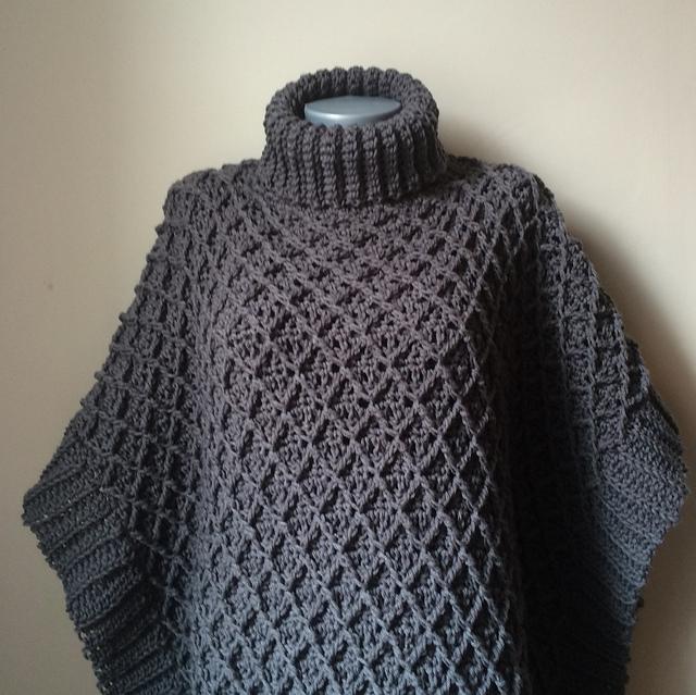 Ravelry Harlequin Poncho Pattern By Jennifer Ozses Beauteous Crochet Poncho Pattern Ravelry