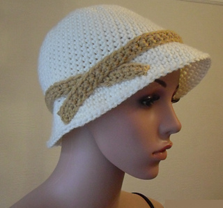 c7065a697eb patterns   Peach. Unicorn s Ravelry Store.   1920 s Flapper Hat
