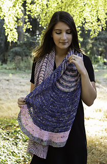Mills End Wrap pattern by Mara Catherine Bryner
