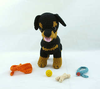 Tinkerbell Amigurumi Free Pattern : Ravelry: Rottweiler puppy accessories pattern by Rosaura ...