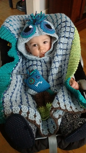 Ravelry: Monster Car Seat Poncho pattern by Roxie McCara