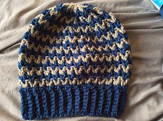 Ravelry  Easy V-stitch Hat pattern by Si Nanay Madel abe54c1199c