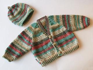 922f476fc Ravelry  Basic Babies Raglan Cardigan and Hat pattern by Ruth Maddock