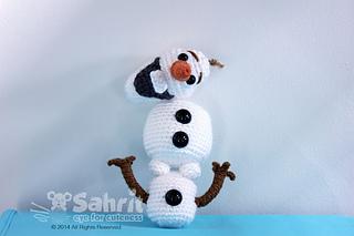 Amigurumi Patterns Olaf : Ravelry detachable olaf amigurumi doll snowman crochet pattern by