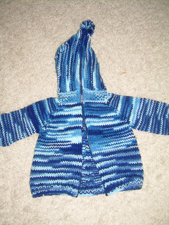 Zip Up Back Hooded Baby Sweater Pattern 89