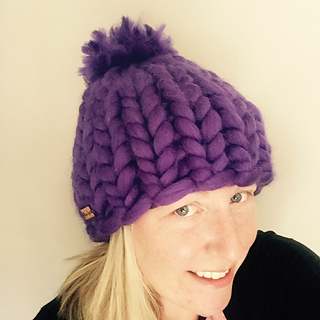 03ffd27f2fc Ravelry  Big Stitch Hat with Pom Pom Helsinki Style pattern by Sarah Willey