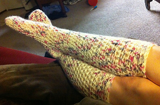 Ravelry Chunky Knee High Boot Sock Pattern By Sarah Lora