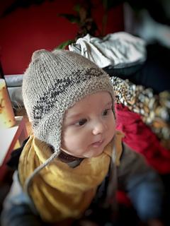 402cffe4b25 Ravelry  Peruvian Ear Flap Baby Hat pattern by Sasa Knits