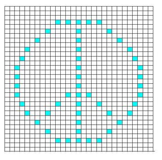 Ravelry Peace Sign Bobble Chart Pattern By Kari Philpott