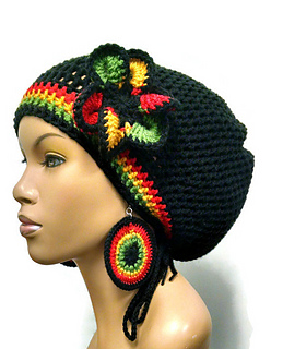 Ravelry  Adjustable slouch  dreadlock hat with drawstring pattern by ... 42b858d0020