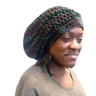 Ravelry  Tam Dreadlock Hat Slouch Hat pattern by ScarFanatic1 0a98fa5aec5