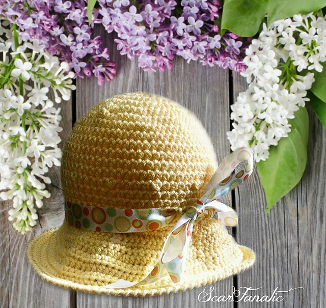 Ravelry  Easy Baby Sun Hat pattern by ScarFanatic1 31d1609ad4e