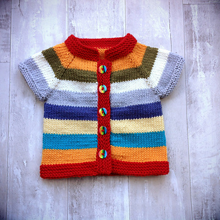 Ravelry Fuss Free Baby Cardigan Pattern By Louise Tilbrook