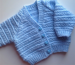 f7ff06e0cfe6 Ravelry  Waves of Love baby cardigan pattern by Mary Edwards
