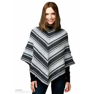 Knit In The Round Poncho Pattern : Ravelry: Fade to Grey Poncho pattern by Caron Design Team