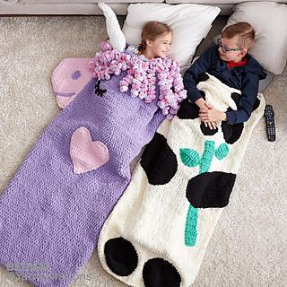 Ravelry Crochet Unicorn Snuggle Sack Pattern By