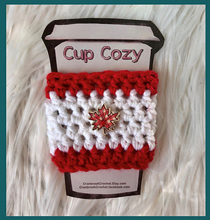 0664bdb4420b2 Ravelry  Canada Flag Cup Cozy pattern by Shari Reid