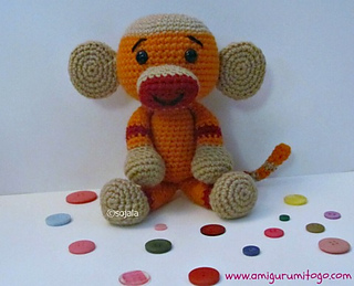 Amigurumi Monkey Patterns : Amigurumi banana crochet pattern kalulu for