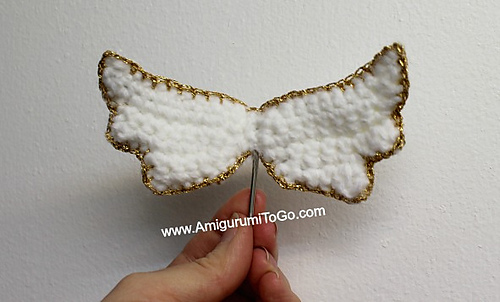 Amigurumi Wings : Ravelry: Amigurumi Angel Wings and Halo pattern by Sharon ...