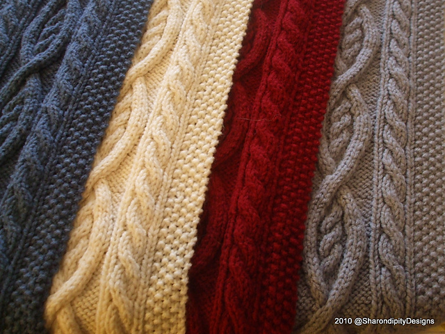 Killarney Cable Knit Scarf Pattern By Sharondipity Designs
