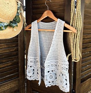 Ravelry Boho Vest Pattern By Showroom Crochet