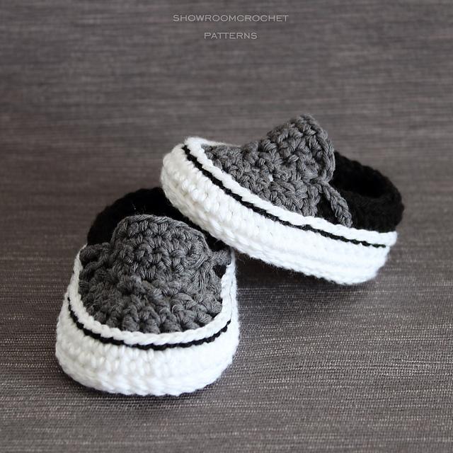 400702688f Ravelry  Vans style baby sneakers pattern by Showroom crochet