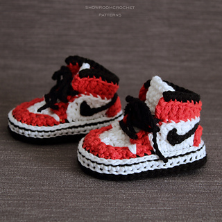 86a23646d9aeef Ravelry  Air Jordans baby sneakers pattern by Showroom crochet