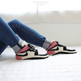 dedf74878b1b30 Ravelry  Air Jordans slippers adults pattern by Showroom crochet