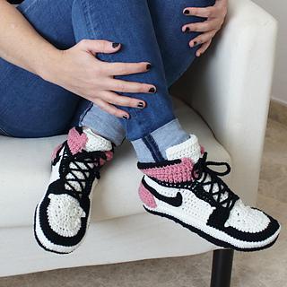 d4db520e9549a9 Ravelry  Air Jordans slippers adults pattern by Showroom crochet