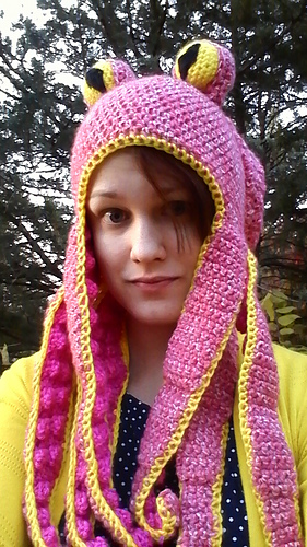 Ravelry Octopus Hat Pattern By Nunyo Business Gorgeous Crochet Octopus Hat Pattern