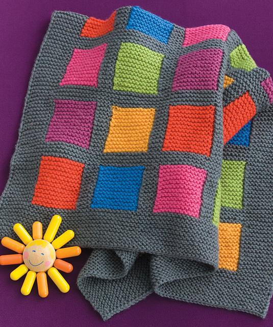 a7b65304e7f2 Ravelry  Happy Blocks Baby Blanket pattern by Kennita Tully